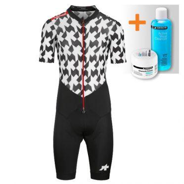 Assos LeHoudini RS Aero RoadSuit Schwarz/Weiß Herren
