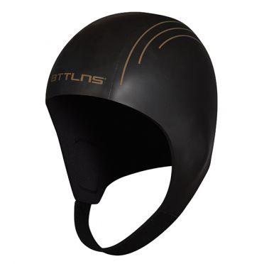 BTTLNS Neopren Swim cap Khione 1.0 Schwarz/gold