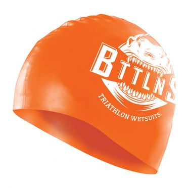 BTTLNS Shark absorber 2.0 silicone badekappe Neon/Orange