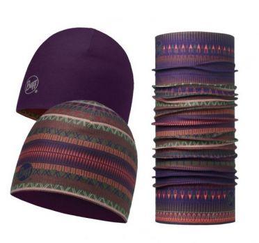 BUFF Microfiber reversible Hat + original BUFF combi Oslo Lila