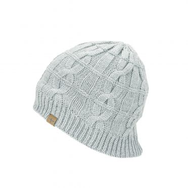 Sealskinz Cold Weather Cable knit beanie Hellgrau