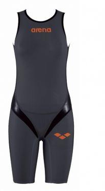 Arena Carbon pro Rear zip Ärmellos Trisuit Dunkelgrau Damen
