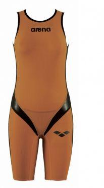 Arena Carbon pro Rear zip Ärmellos Trisuit Orange Damen