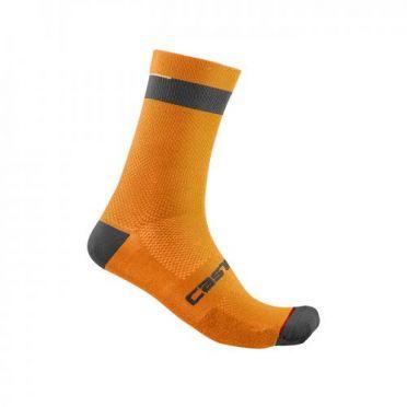 Castelli Alpha 18 Radsocken Orange Herren