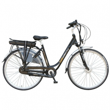 Dutchebike Elektro damenrad city schwarz