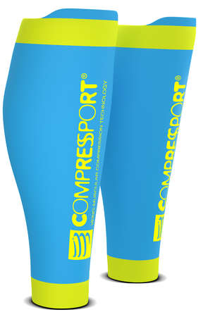 Compressport R2 v2 Wadenkompressoren Ice Blau