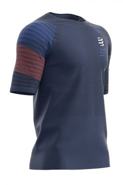 Compressport Racing Kurzarm t-shirt Blau Herren