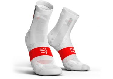 Compressport V3.0 ultralight Radsocken Weiß