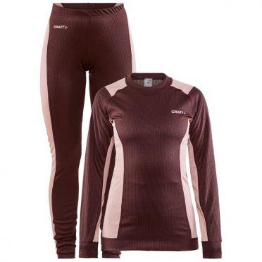 Craft Core Dry Thermo Unterwäsche set schwarz rot Damen