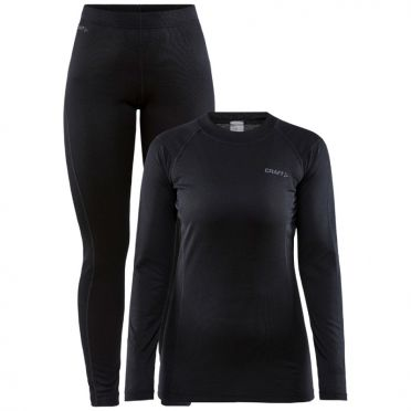 Craft Core Warm Thermo Unterwäsche set schwarz Damen