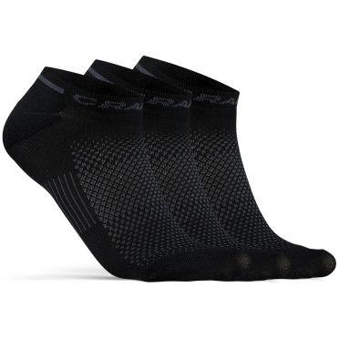Craft Advanced Dry Mid Shaftless Socken Schwarz 3-pack
