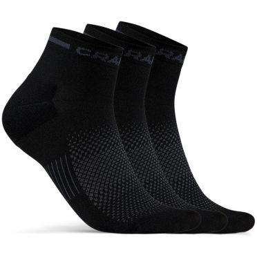 Craft Advanced Dry Mid Socken Schwarz 3-pack