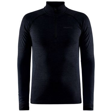 Craft Core Dry Active Comfort Pullover mit halbem Reißverschluss schwarz Herren
