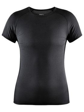 Craft Pro Dry Nanoweight Kurzarm Unterhemd Schwarz Damen