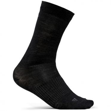 Craft Wool Liner Socken Schwarz 2-pack