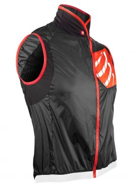 Compressport Cycling hurricane wind protect Weste Schwarz