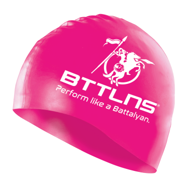 BTTLNS Silicone Badekappe Neon-Rosa Absorber 2.0