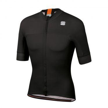 Sportful Bodyfit pro classic Radtrikot Kurzarm Schwarz/Orange Herren