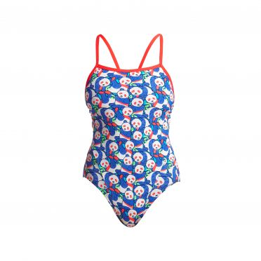 Funkita Pandamania Single Strap Badeanzug Damen