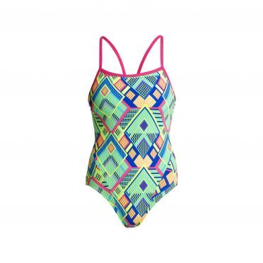 Funkita Diamond fire Single Strap Badeanzug Damen