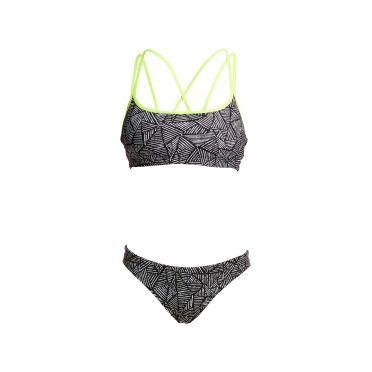 Funkita Black widow Criss cross sports Bikini Set Damen