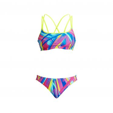 Funkita Frickin laser Criss cross sports Bikini Set Damen