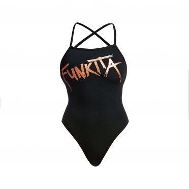 Funkita Bronzed Strapped In Badeanzug Damen