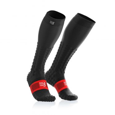 Compressport Full socks detox recovery Kompressionsstrümpfe Schwarz