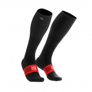 Compressport Full socks oxygen Kompressionsstrümpfe Schwarz