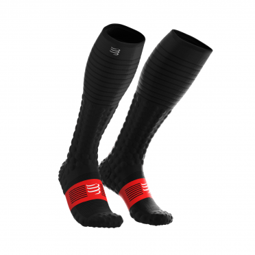 Compressport Full socks race & recovery Kompressionsstrümpfe Schwarz
