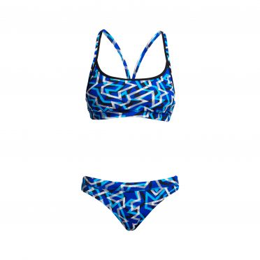 Funkita Ticker Tape Bikini Set Damen