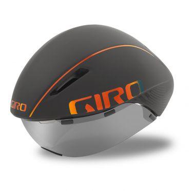 Giro Aerohead mips Fahrradhelm matt grau / feuerchrom