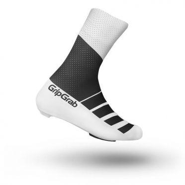 GripGrab RaceAero TT Überschuhe Schwarz/Weiß