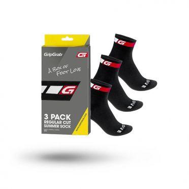Gripgrab Classic Radsport-Socken 3-pack Schwarz