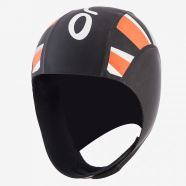 Orca Neopren thermal swimcap Schwarz/Orange
