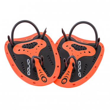 Orca Beginner Handpaddles Orange/Schwarz