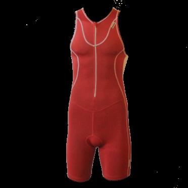 Ironman Trisuit front zip ärmellos Speedflo Rot/Silber Herren