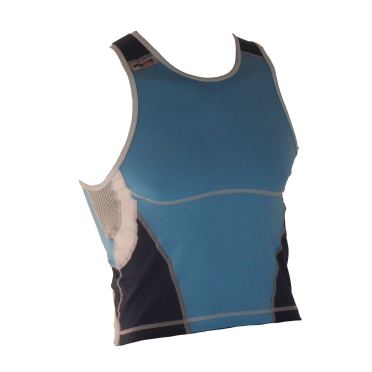 Ironman Tri top ärmellos New Olympic Blau Herren