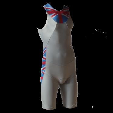 Ironman Trisuit back zip ärmellos Aero Weiß/ENG Herren