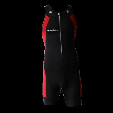 Ironman Trisuit front zip ärmellos Multisport Schwarz/Rot Herren