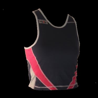 Ironman Tri top ärmellos Extreme Blau/Rosa Damen