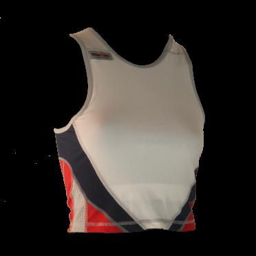 Ironman Tri top ärmellos Extreme 360 Weiß/Rot/Blau Damen