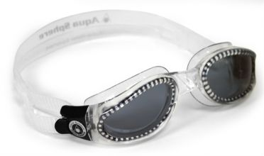Aqua Sphere Kaiman dunkle Linse Schwimmbrille Silber