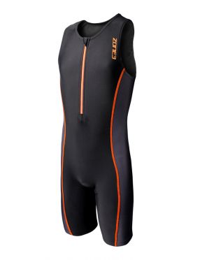 Zone3 Adventure Ärmellos Kinder Trisuit Schwarz/Orange