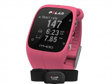 Polar M400 HRM Sportuhr miet GPS Pink