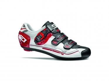Sidi Genius 7 Rennradschuh Weiß/Schwarz/Rot Herren