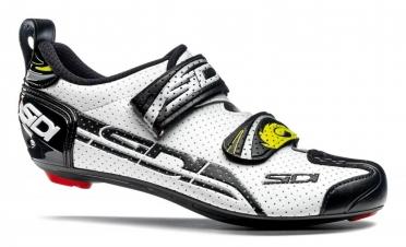 Sidi T4 Air Carbon Composite Triathlonschuh Weiß/Schwarz Herren