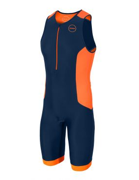 Zone3 Aquaflo plus Ärmellos Trisuit Blau/Orange Herren