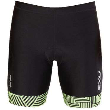 "2XU Perform 7"" Tri shorts Schwarz/Grün Heren"