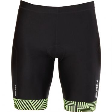 "2XU Perform 9"" Tri shorts Schwarz/Grün Heren"